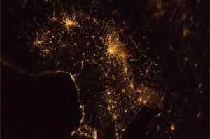 Il nord Italia. Bellissima notte!  Credit: ESA/NASA