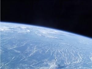 Una prima vista dal finestrino della Soyuz