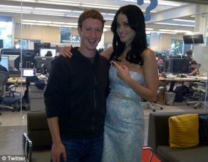 Mark Zuckemberg e Katy Perry