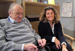 Nanni Quagliotti, 80 anni con la figlia Silvia, erede del gruppo di famiglia