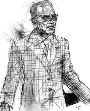 Amedeo Salerno (disegno di Francesco Ardizzone)