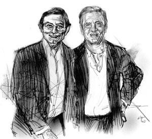 Arturo e Antonio Sergio (disegno di Francesco Ardizzone)