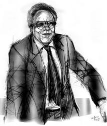 Nino Masiello nel disegno di Francesco Ardizzone