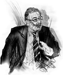 Nicola Tranfaglia nel ritratto di Francesco Ardizzone