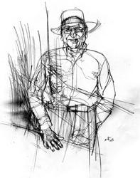 Luigi Iacono nel ritratto di Francesco Ardizzone