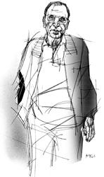 Giuseppe La Mura nel disegno di Francesco Ardizzone