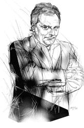 Gianpaolo Fabrizio nel disegno di Francesco Ardizzone
