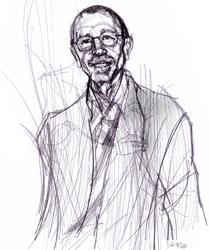 Angelo Trimarco nel disegno di Francesco Ardizzone