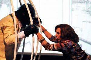 nella foto Tony Laudadio e Nicoletta Braschi