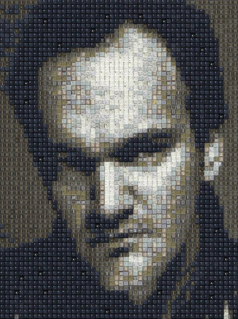 Quentin-Tarantino-Keyboard-Portrait-art