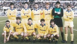Formazione In piedi 1987-1988  da sinistra: Gambaro, Minotti, Zannoni, Apolloni, Cervone, Di Già Accosciati: Baiano, Carboni, Fiorin, Turrini, Osio.