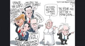 pope Francis and Bernie Sanders