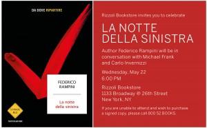 Rizzoli NYC La Notte Della Sinistra