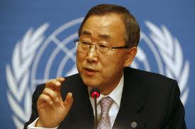 Il segretario dell'Onu Ban Ki Moon