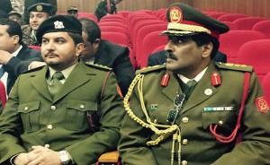 Da sinistra, Saddam e Khalid Haftar in Giordania