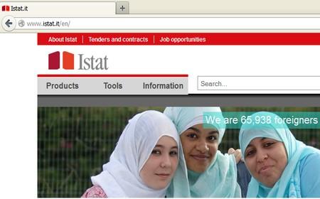 Il sito dell'Istat parla inglese