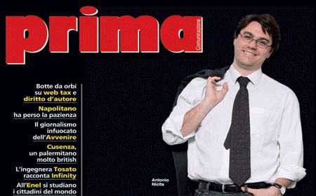 """Il mensile """"Prima Comunicazione"""" dedica la copertina a Nicita"""
