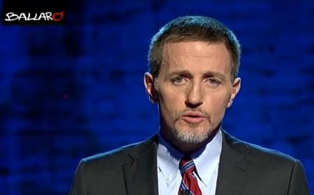 Massimo Giannini durante la terza puntata