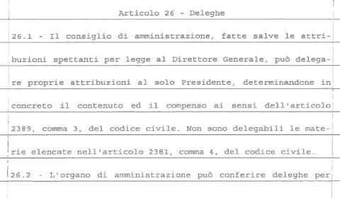 L'articolo 26 dello Statuto della Rai