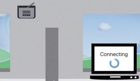 In casa , un router invia il segnale al computer via wi-fi. Sopra, la parabola
