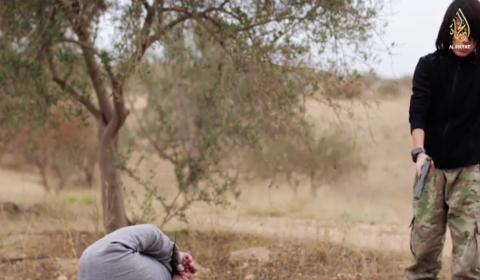 Un momento del video dell'Is