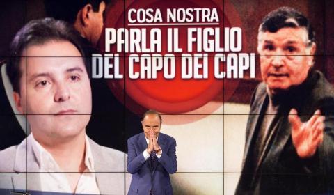 Vespa intervista Salvo Riina (foto ANSA)