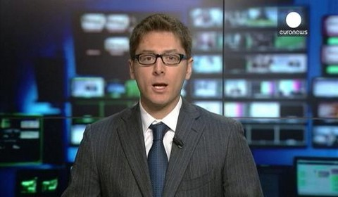 Giacomo Segantini in conduzione ad EuroNews (Lione)