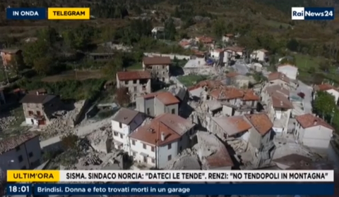 Il drone Rai sulle zone colpite dal sisma