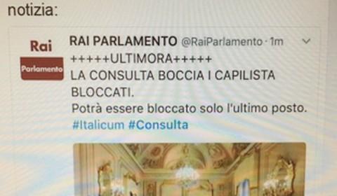 Il tweet contestato di Rai Parlamento