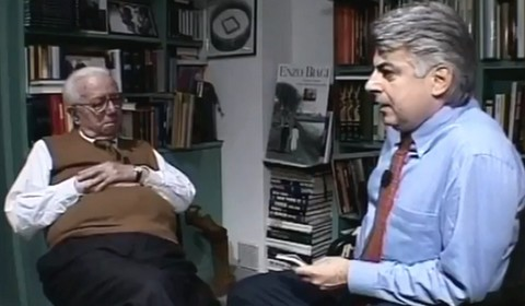 Enzo Biagi con Loris Mazzetti