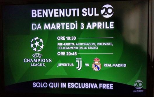 Dal web indizi su Canale 10 e Juve-Real