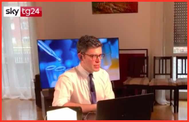 Il tg di Sky condotto da casa del giornalista Fabio Vitale