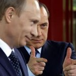 Berlusconi con l'amico Putin