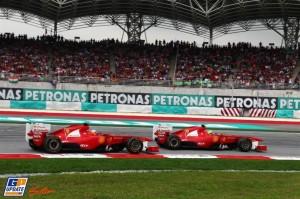 Alonso e Massa in azione a Sepang