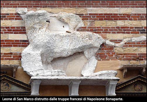 Leone fatto distruggere da Napoleone