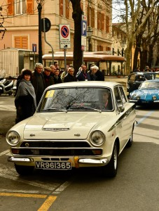 Gianni Chiesa su Cortina Lotus del 1965