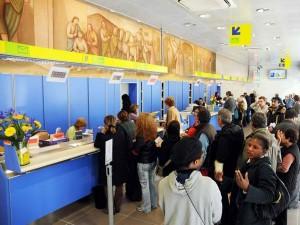 Un ufficio postale in Italia