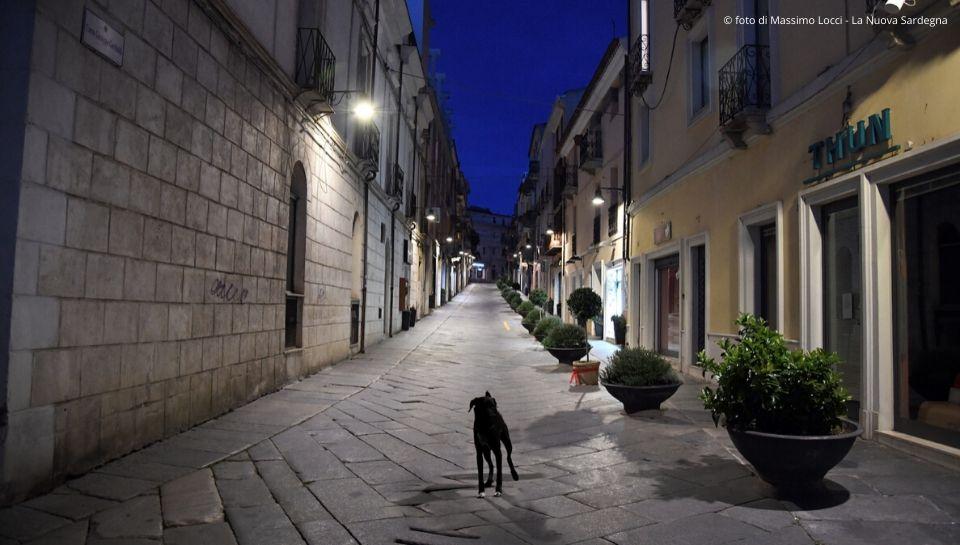 """""""Solo come un cane al Corso di Nuoro"""".  © Foto di Massimo Locci - La Nuova Sardegna"""