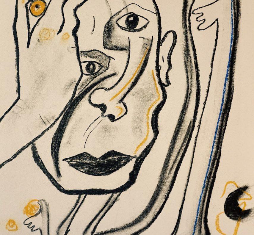L'uomo che pensa, opera di Mary Blindflowers©