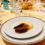 Guancia maialino e polenta taragna