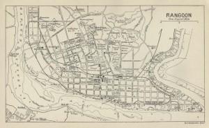 Una cartina del 1912 della vecchia capitale birmana