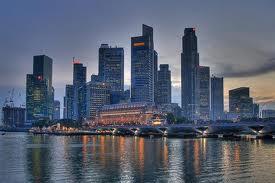 Uno dei complessi di grattacieli di Singapore