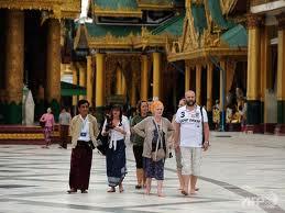 turisti a shwedagon
