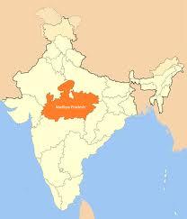Mappa del Madhya Pradesh