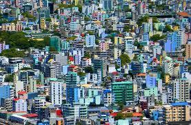 Concentrazione urbana nella capitale Malé