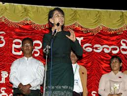 Aung San Suu Kyi a Monywa