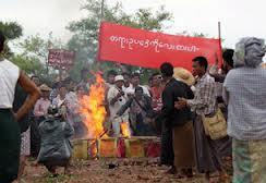 Proteste per la miniera cinese a Monywa