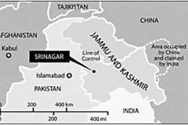 Mappe dei confini in Kashmir