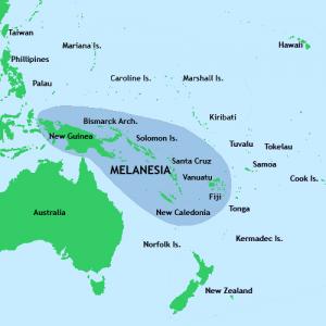 Mappa delle isole melanesiane