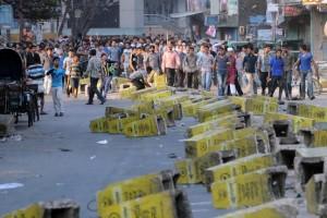 Blocchi stradali di Jamaat e Islami a Chittagong